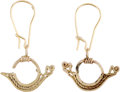 Antiques:Antiquities, A Pair of Child's Gold Earrings... (Total: 2 Items)