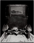 Photographs:20th Century, WRIGHT MORRIS (American, 1910-1998). Model T in Shed, The Home Place, Nebraska, 1947. Gelatin silver, 1972. Paper: 10 x ...