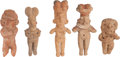 Antiques:Antiquities, Five Fine Jalisco Solid Figures... (Total: 5 Items)
