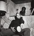 Photographs:20th Century, SID AVERY (American, 1918-2002). Marlon Brando, At Home withBongos, 1955. Gelatin silver, printed later. Paper: 19-7/8 ...