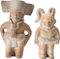 Antiques:Antiquities, A Lot of Two Maya Ballplayers... (Total: 2 Items)
