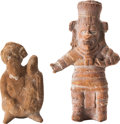 Antiques:Antiquities, A Lot of Two Maya Molded Figures... (Total: 2 Items)