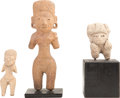 Antiques:Antiquities, A Lot of Three Huastec Figures... (Total: 3 Items)