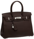 Luxury Accessories:Bags, Hermes 30cm Chocolate Togo Leather Birkin Bag with PalladiumHardware. ...