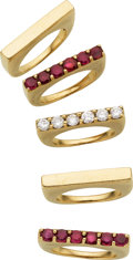 Estate Jewelry:Rings, Diamond, Ruby, Gold Rings. ...