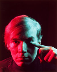 PHILIPPE HALSMAN (American, 1906-1979) Andy Warhol, 1968 Chromogenic, 1989 Paper: 17 x 14 inches