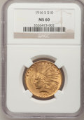 Indian Eagles, 1916-S $10 MS60 NGC....