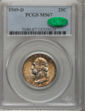 Washington Quarters, 1949-D 25C MS67 PCGS. CAC....