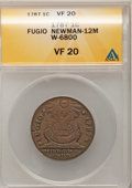 Colonials, 1787 1C Fugio Cent, STATES UNITED, 4 Cinquefoils, Pointed Rays VF20 ANACS. Newman 12-M, W-6800, R.3....