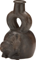 Antiques:Antiquities, Chavin Vessel with Jaguar...