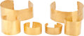Antiques:Antiquities, A Set of Six Gold Arm and Leg Bands... (Total: 6 Items)