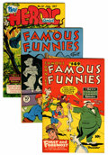 Golden Age (1938-1955):Miscellaneous, Famous Funnies/Heroic Comics File Copy Group (Eastern Color, 1946-54) Condition: Average VF/NM.... (Total: 6 Comic Books)