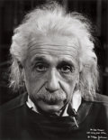 Photographs, PHILIPPE HALSMAN (American, 1906-1979). Albert Einstein, 1947. Gelatin silver, before 1968. Paper: 14 x 11 inches (35.6 ...