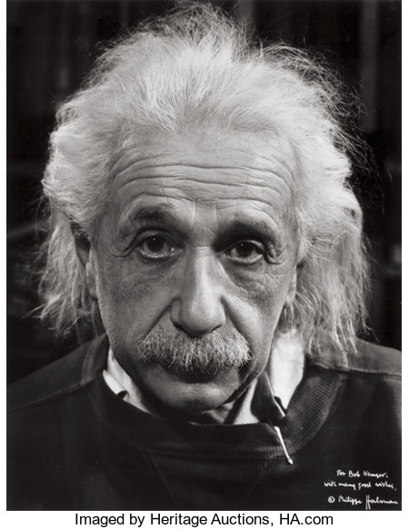 PHILIPPE HALSMAN (American, 1906-1979)Albert Einstein, 1947Gelatin silver, before 1968Paper: 14 x 11 inches (35.6 ...