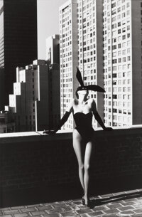 HELMUT NEWTON (German/Australian, 1920-2004) Elsa Peretti in Halston Bunny Costume, New York, 1975 G