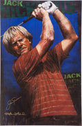 Golf Collectibles:Autographs, Jack Nicklaus Signed Stephen Holland Giclee....