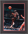 "Basketball Collectibles:Photos, Michael Jordan Signed Oversized ""Upper Deck Authenticated""Photograph...."