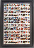 Football Cards:Sets, 1961 Fleer Football Uncut Sheet With 110 Cards! ...
