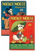 Golden Age (1938-1955):Cartoon Character, Mickey Mouse Magazine V2#7 and V2#8 Group (K. K. Publications/Western Publishing Co., 1937).... (Total: 2 Comic Books)