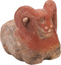 American Indian Art:Pottery, A MIMBRES STONE RAM. c. 1000 - 1200 A. D....