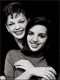 Photographs:Contemporary, TERRY O'NEILL (British, b. 1938). Judy Garland and Liza Minelli, London, 1963. Gelatin silver, printed later. 14-3/4 x 1...