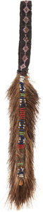American Indian Art:Beadwork and Quillwork, A PLAINS BEADED HIDE HAIR BRUSH. c. 1900...