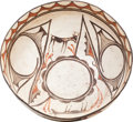 American Indian Art:Pottery, A ZUNI POLYCHROME DOUGH BOWL. c. 1900. ...