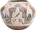 American Indian Art:Pottery, A ZUNI POLYCHROME JAR. c. 1885...