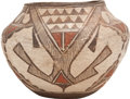American Indian Art:Pottery, A ZUNI POLYCHROME JAR. c. 1900...