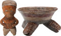 Antiques:Antiquities, A Lot of Two West Coast Objects... (Total: 2 Items)