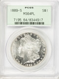 Morgan Dollars, 1889-S $1 MS64 Prooflike PCGS....