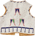 American Indian Art:Beadwork and Quillwork, A SIOUX CHILD'S BEADED HIDE VEST. c. 1900...