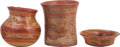 Antiques:Antiquities, A Lot of Three Maya Vessels... (Total: 3 Item Items)