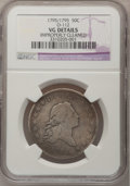 Early Half Dollars, 1795/1795 50C --Improperly Cleaned--NGC Details. VG. O-112, R.4....
