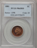 Proof Indian Cents, 1881 1C PR65 Red PCGS....