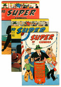 Golden Age (1938-1955):Miscellaneous, Super Comics #50, 82, and 84 Group (Dell, 1942-45).... (Total: 3 Comic Books)