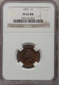 Proof Indian Cents, 1875 1C PR65 Red and Brown NGC....