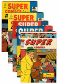 Golden Age (1938-1955):Miscellaneous, Super Comics Group (Dell, 1945-47).... (Total: 5 Comic Books)