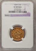 Liberty Half Eagles, 1839-C $5 --Scratches--NGC Details. XF. Variety 1....