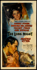 "Movie Posters:Film Noir, The Long Night (RKO, 1947). Three Sheet (41"" X 81""). Film Noir.. ..."
