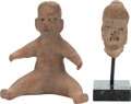 Antiques:Antiquities, Two Olmec Objects... (Total: 2 Items)