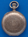 Timepieces:Pocket (post 1900), Waltham, 18 Size Coin Silver Hunters Case. ...