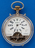 Timepieces:Pocket (post 1900), Swiss 8 day With Exposed Balance. ...