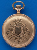 Timepieces:Pocket (post 1900), Illinois Fancy Dial 16 Jewel, 6 Size Hunters Case. ...