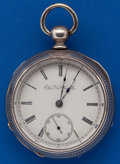 Timepieces:Pocket (pre 1900) , Elgin 18 Size, Coin Silver Key Wind. ...