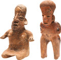 Antiques:Antiquities, Jalisco Woman and Standing Male Nayarit Figure... (Total: 2 Items)