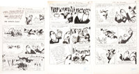 """Adventures of Mighty Mouse Complete 7-page Heckle and Jeckle Story """"The Witches Clock"""" Original Art Group"""