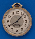 Timepieces:Pocket (post 1900), Waltham 17 Jewel, 12 Size Secometer Dial Without Disc. ...