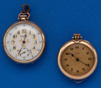 Two - Ladies Open Face Pendant Watches