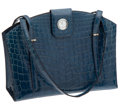 Luxury Accessories:Bags, Hermes Rare Shiny Blue Jean Nilo Crocodile Extremely Rare CuckooClock Bag. ...